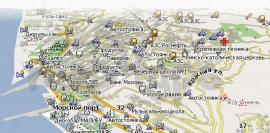 карта для навигатора в Сочи
