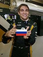 Российский гонщик Виталий Петров