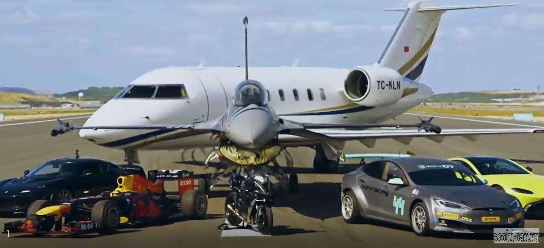Кто быстрей: самолёт, машина или мотоцикл?