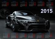 Календарная сетка на 2015 год в формате PSD